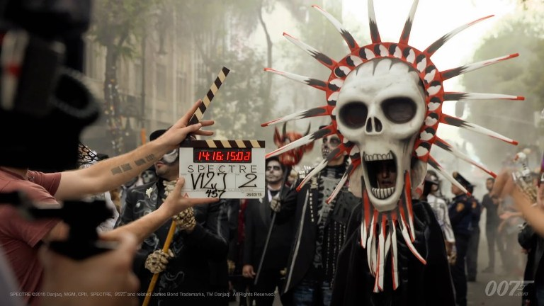 Spectre: Day of the Dead Festival in Mexico product placement