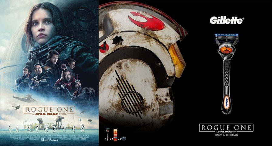 Rogue One Poster and Gillette Partnership